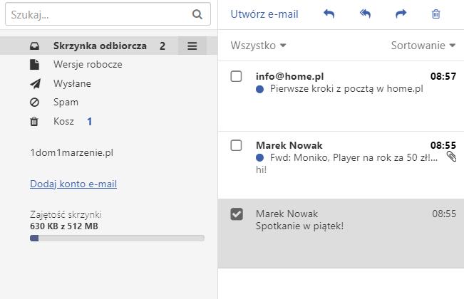 Utwórz kopię zapasową e-mail w usłudze Dropsuite