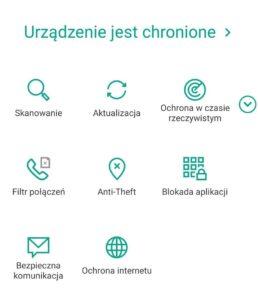 Skanowanie telefonu z Kaspersky for Android