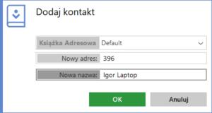 Wypełnij dane kontaktu AnyDesk