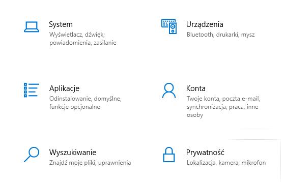 W panelu sterowania Windows 10 wybierz Aplikacje aby odinstalować oprogramowanie