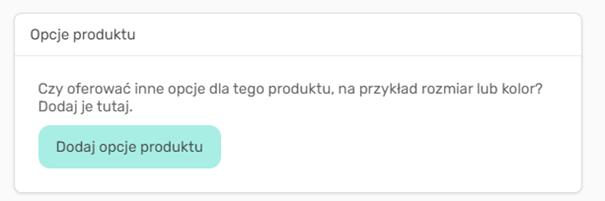 Konfiguracja wariantów produktów w sklepie kreatora WWW