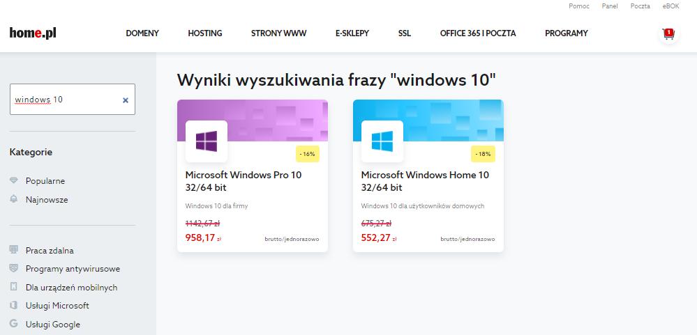 Wyszukaj ofertę na system Windows 10 i dokonaj wyboru najlepszego systemu dla siebie