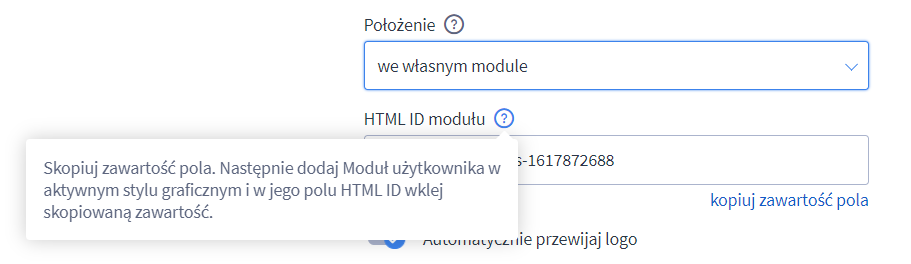 Aplikacja Karuzele logotypów eSklep