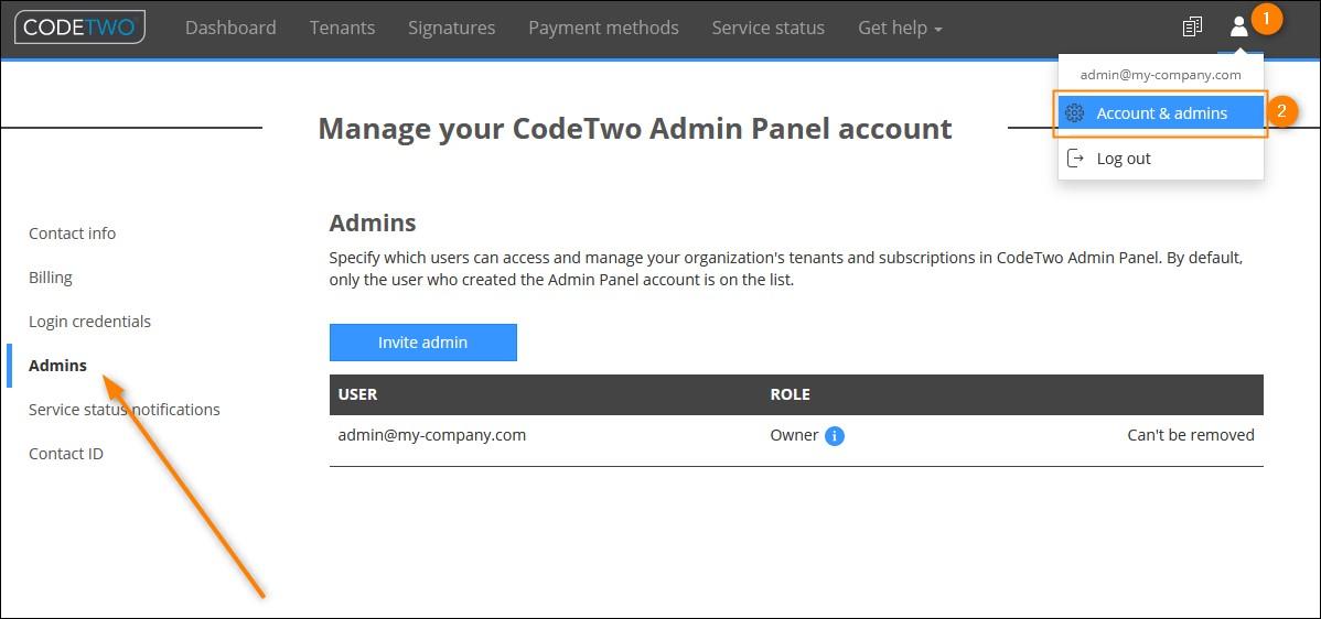Jak przyznać niezależny dostęp do konta w CodeTwo Admin Panel innym administratorom?