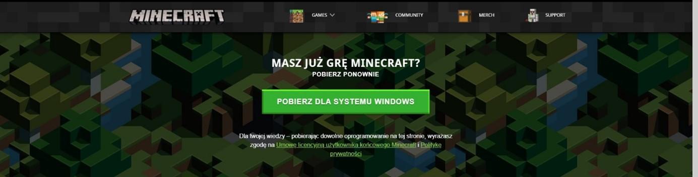 Instalacja Minecraft - pobierz instalator