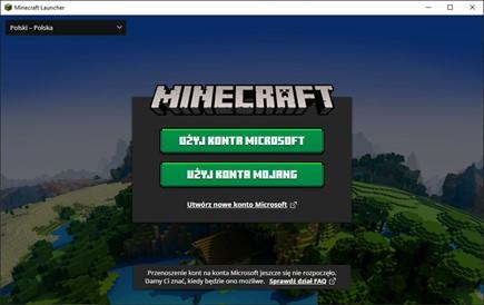 Instalacja Minecraft - logowanie