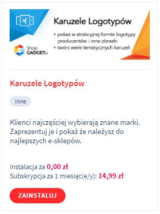 Aplikacja: Karuzele logotypów – Webcoders