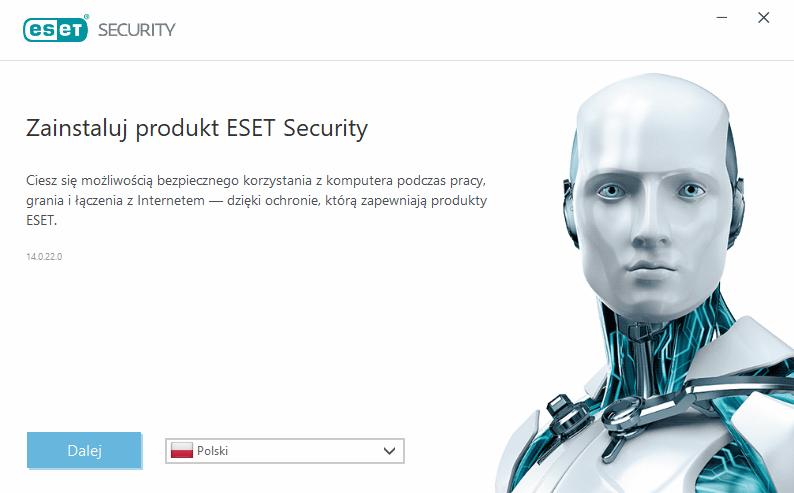 Interfejs instalatora ESET Internet Security