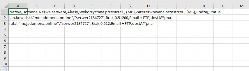 Po zapisaniu pliku .csv na dysku komputera możesz otworzyć i edytować go w programie Excel