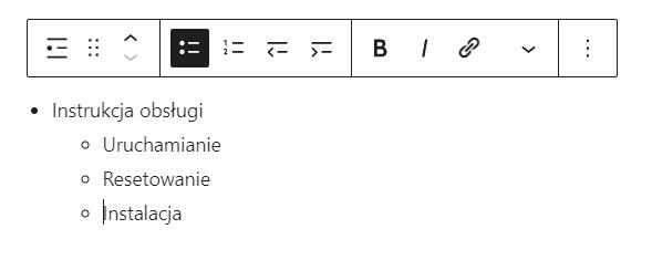 Jak utworzyć listę we wpisie WordPress?