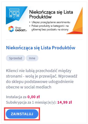 Aplikacja: Niekończąca się lista produktów – WebCoders