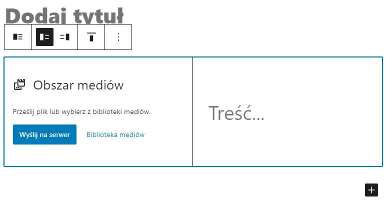Dodawanie modułu bloku WordPress Media i tekst pozwoli Ci lepiej wyeksponować ważne treści