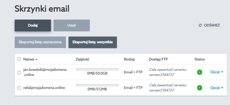 Dodaj skrzynkę e-mail we własnej domenie aby nadać jej unikalny adres