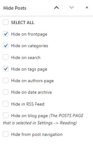 WordPress Hide Post pozwala ukrywać posty na dowolnych stronach WordPress