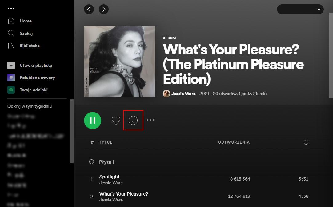 Pobieraj ulubioną muzykę i odtwarzaj ją offline w aplikacji mobilnej Spotify