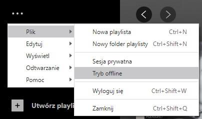 W ustawieniach aplikacji Spotify znajdziesz dodatkowe opcje jak np. przejście do trybu Offline