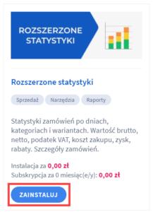 Aplikacja: Rozszerzone statystyki