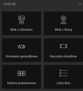 Wstaw moduł Karuzela obrazków z biblioteki Elementor