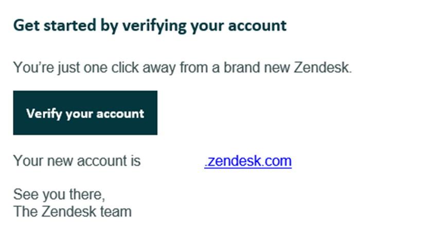 Email potwierdzający Zendesk