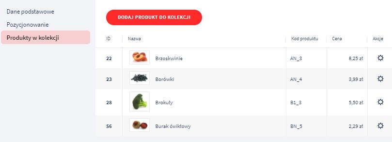 Dodawaj kolejne produkty, tworząc unikalną kolekcję